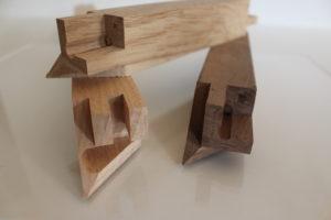 Foto einer gefrästen Holzverbindung